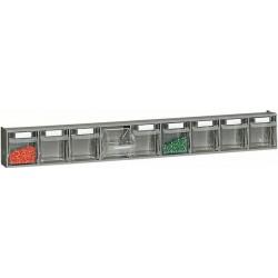 Zestaw 9 pojemników uchylnych