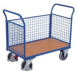 Wózek 3 burty z siatki, 400kg